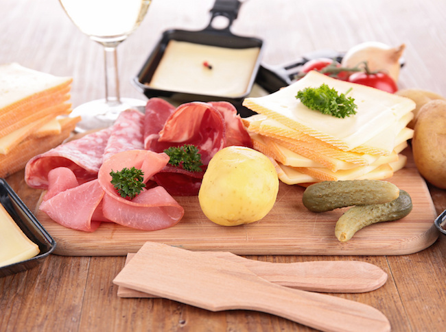 raclette and ingredients