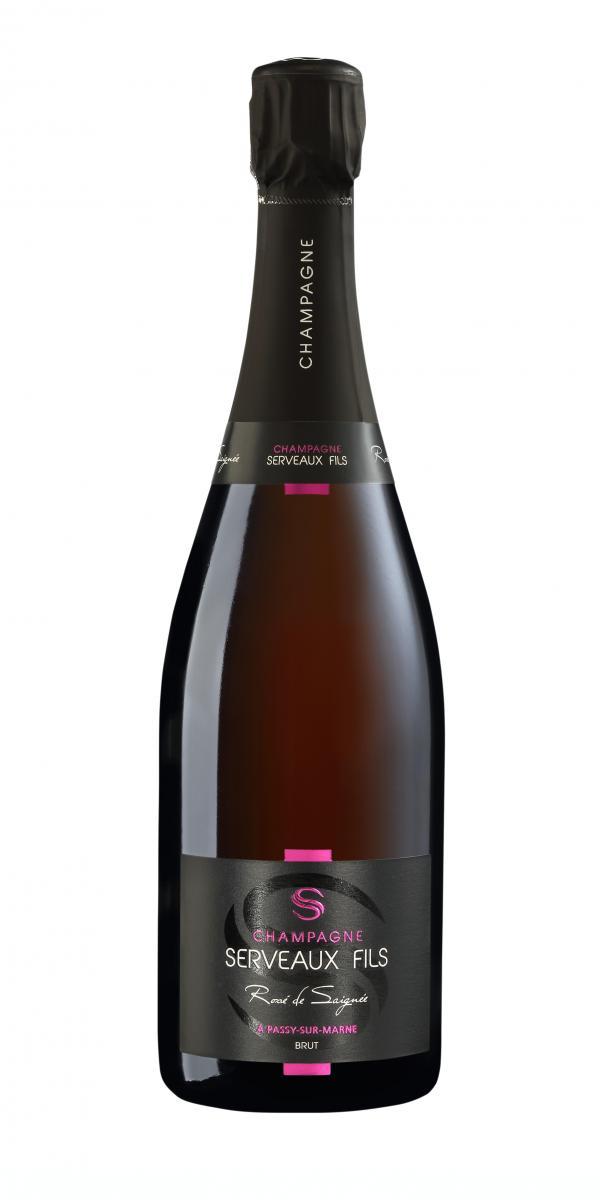 Cuvée Rosé de Saignée - 2013-Champagne Serveaux Fils