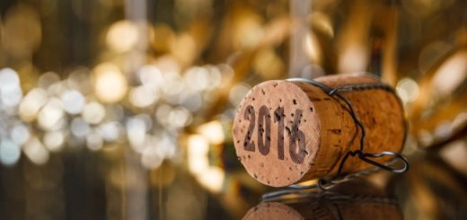Champagne cork new year's 2016 concept