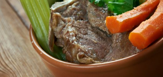 Pot-au-feu -  French beef stew.